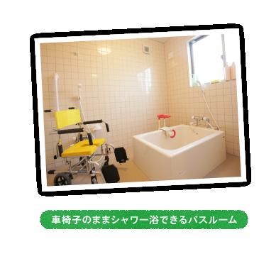 車椅子のままシャワー浴できるバスルーム